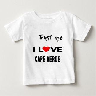 Confíeme en amor Cabo Verde de I. Playera Para Bebé