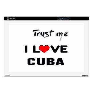 Confíeme en amor Cuba de I Calcomanías Para 43,2cm Portátiles