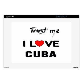 Confíeme en amor Cuba de I Portátil Skin