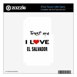 Confíeme en amor El Salvador de I. Calcomanía Para iPod Touch 4G