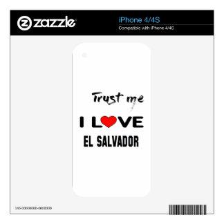 Confíeme en amor El Salvador de I. iPhone 4S Calcomanía