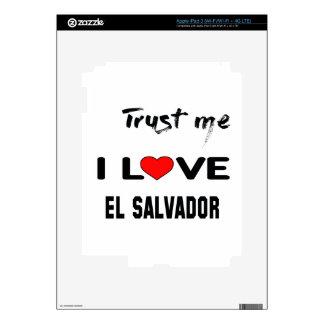 Confíeme en amor El Salvador de I. Pegatina Skin Para iPad 3