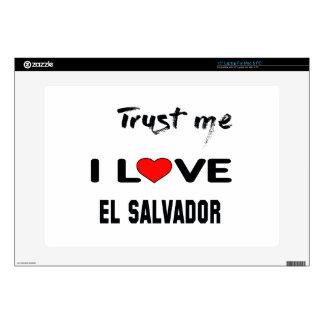 Confíeme en amor El Salvador de I. Portátil 38,1cm Skin