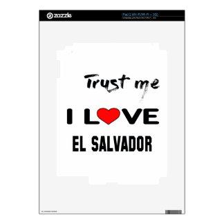 Confíeme en amor El Salvador de I. Skin Para El iPad 2