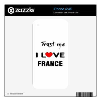 Confíeme en amor Francia de I Calcomanía Para iPhone 4S