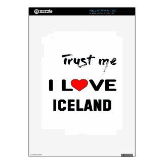 Confíeme en amor Islandia de I iPad 2 Skins