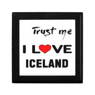 Confíeme en amor Islandia de I Joyero Cuadrado Pequeño