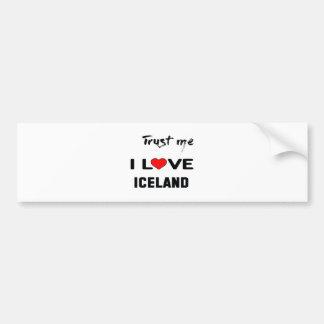 Confíeme en amor Islandia de I Pegatina Para Auto