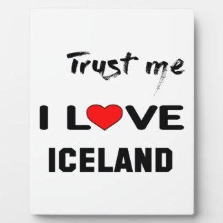 Confíeme en amor Islandia de I Placas Para Mostrar
