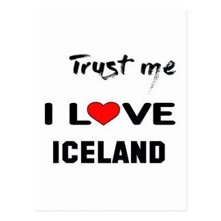 Confíeme en amor Islandia de I Tarjeta Postal