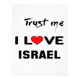 Confíeme en amor Israel de I Membrete A Diseño