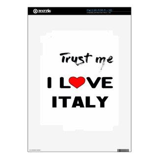 Confíeme en amor Italia de I iPad 2 Skin