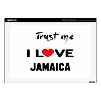 Confíeme en amor Jamaica de I Calcomanía Para 43,2cm Portátil