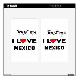 Confíeme en amor México de I Kindle Fire Skins