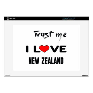 Confíeme en amor Nueva Zelanda de I. Skins Para 38,1cm Portátil