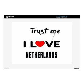 Confíeme en amor Países Bajos de I Skins Para Portátil