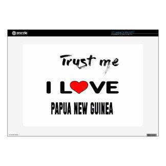 Confíeme en amor Papúa Nueva Guinea de I. Portátil Calcomanía
