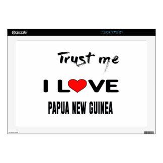 Confíeme en amor Papúa Nueva Guinea de I. Portátil Calcomanías
