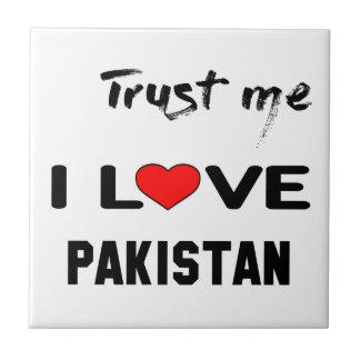 Confíeme en amor Paquistán de I Azulejo Cuadrado Pequeño
