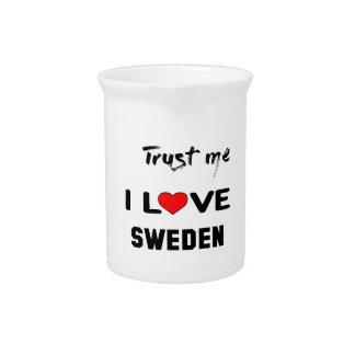 Confíeme en amor Suecia de I Jarras Para Bebida