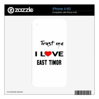 Confíeme en amor Timor Oriental de I. iPhone 4S Skins