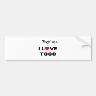 Confíeme en amor Togo de I Pegatina Para Auto