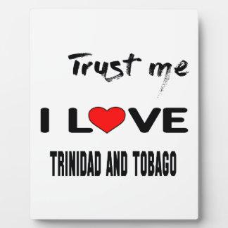 Confíeme en amor Trinidad and Tobago de I. Placas Con Fotos
