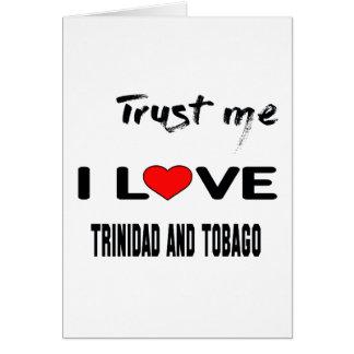 Confíeme en amor Trinidad and Tobago de I. Tarjeta De Felicitación