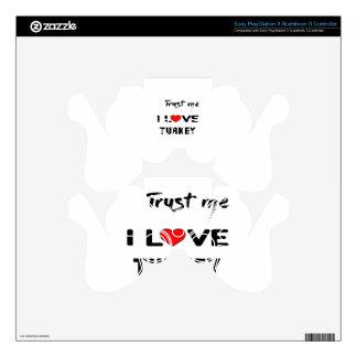 Confíeme en amor Turquía de I Mando PS3 Calcomanía