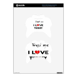 Confíeme en amor Turquía de I Mando Xbox 360 Skins