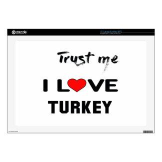 Confíeme en amor Turquía de I Portátil Calcomanía
