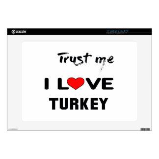 Confíeme en amor Turquía de I Skins Para Portátiles
