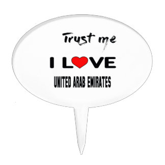 Confíeme en amor United Arab Emirates de I. Figura Para Tarta