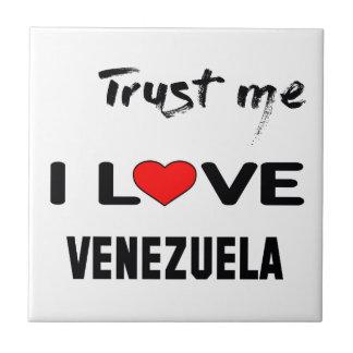 Confíeme en amor Venezuela de I Azulejo Cuadrado Pequeño