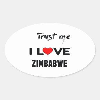 Confíeme en amor Zimbabwe de I Pegatina Ovalada