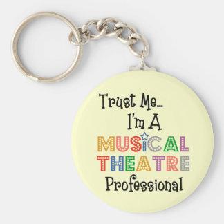 Confíeme en… favorable llavero del teatro musical