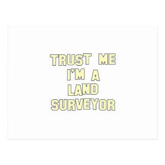 Confíeme en I; m un topógrafo de la tierra Postales