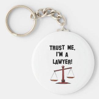 Confíeme en Im un abogado Llavero Redondo Tipo Pin
