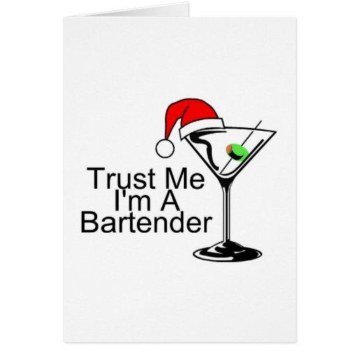 Confíeme en Im un camarero Martini Felicitaciones