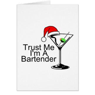 Confíeme en Im un camarero Martini Tarjeta De Felicitación