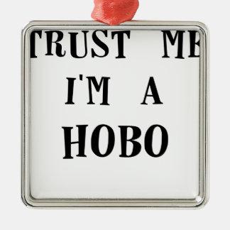 confíeme en im un hobo.png ornamentos de navidad