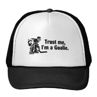 Confíeme en Im un hockey del portero Gorros Bordados