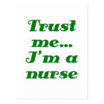 Confíeme en Im una enfermera Tarjetas Postales