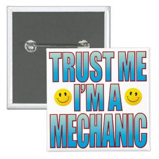 Confíeme en la vida B del mecánico Pin Cuadrado