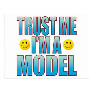 Confíeme en la vida modelo B Postales