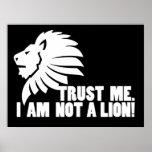 Confíeme en.  ¡No soy un león! Impresiones