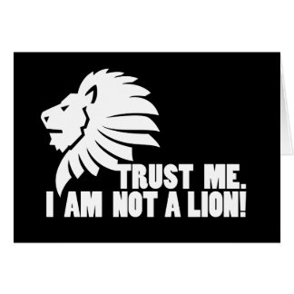 Confíeme en ¡No soy un león Tarjeta