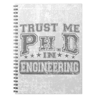 Confíeme en Ph D en la ingeniería Cuadernos