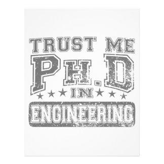 Confíeme en Ph D en la ingeniería Membrete A Diseño