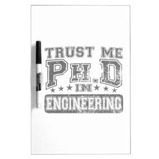Confíeme en Ph D en la ingeniería Pizarras Blancas
